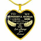Meaningful Wife Necklace Husband Heart Pendant Shape Special Gift For Love Woman