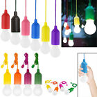 LED Pull Cord Colorful Light Bulb Camping Tent Reading Room Decorative Lamp 768