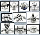SPORTS Ball BEADS | Silver Charms for Bracelets Necklaces | Boys Girls Coach Mom