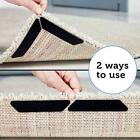 8pcs/pack Rug Carpet Mat Non Slip Skid Reusable Washable Ruggies Grips AL