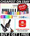 Kyпить Nail Gel Polish set CANNI Soak off UV LED Colour Base Top Coat Nail Varnish  на еВаy.соm