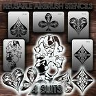 Airbrush Stencils REUSABLE 4 SUITS New VINYL adhesive