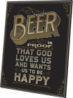 Click Wall Art Beer is Proof That God Loves Us Textual Art Plaque in Black