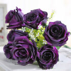 Artificial Flowers Cloth Rose Bouquet 7 Heads for Home Garden Party Wedding
