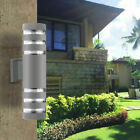 Modern LED Wall Light Dual Head Up Down Sconce Fixture Cylinder Wall Lamp Silver