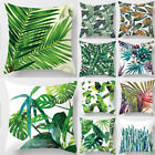 "New Leaf Cotton Linen Cushion Cover Throw Pillow Case Sofa Home Decoration 18"" image"