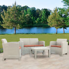 Weather Outdoor Patio Garden Furniture Sofa Set Love Seat And Coffee Table