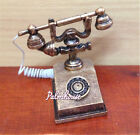 1-12 Doll House Furniture Miniature Retro Phone Vintage Telephone For Gift TB
