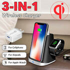 3in1 Qi Wireless Charger +QC3.0 Power Adapter For Apple Watch Airpods for iphone