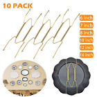 10Pcs Wall Plate Spring Hook Hanger Holder Hanging Wire Home Decor Accessory