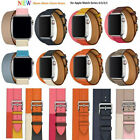 Leather Single/double Tour watch iWatch wrist Band Strap for Apple Watch 1/2/3/4 image