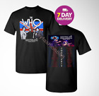 The Who Moving On Tour 2019 Men's Black T-Shirt Size S to 3XL. image