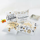 Merry Christmas Cotton Linen Pillow Case Cushion Cover Sofa Car Bed Decor LS US image