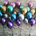 "Внешний вид - 10pc 10"" Shiny Chrome Balloons Bouquet Birthday Party Decor Metallic Wedding New"