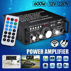 600W Mini 2CH HiFi Digital Audio Stereo Amplifier Preamps FM bluetooth Car