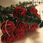 D'AGOSTINO HANDCRAFTED RED LEATHER ROSES BUY 1, 3, 6, 12. MORE COLORS AVAILABLE.