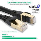 LOT 6FT 10FT 25FT 50FT 66FT Cat 8 RJ45 Network LAN Ethernet S/FTP Patch Cable