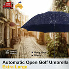 Extra Large Automatic Open Golf Umbrella Double-Canopy Windproof UV Protection