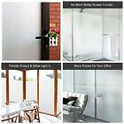 White Frosted Window Films High Privacy Glass Door Static Cling Stained Bedroom