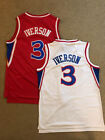 Allen Iverson #3 Philadelphia Sixers 76ers Rookie Throwback Red on eBay