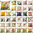Flower Printi 18inch Pillow Case Cover Sofa Couch Cushion Cover Home Decor Gift image