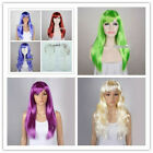 Внешний вид - Fashion 60CM Long Straight Multi-color Anime Daily Party Cosplay Wig + Free Cap