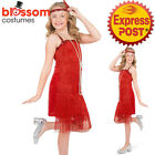 CK1446 Girls Red Flapper 1920s Charleston Chicago Gatsby Fancy Dress Up Costume