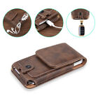 Universal Cell Phone Case Pouch Holster w/ Belt Loop Metal Clip for Large Phones