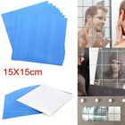 Small Mirror Tiles Glass Wall Stickers Square Self Adhesive Reflective Bathroom