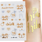Внешний вид - Bachelorette Party Tattoos Team Bride Bridesmaid Temporary Gold Foil Tattoo