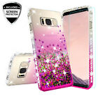 For Samsung Galaxy S8/S8 Plus Ring Stand Glitter Bling Phone Case w/Kickstand