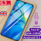 P35 4g Smartphone 6.3'' Android 9.1 Dual Sim 6g+128g Mobile Phone Face Unlock Uk