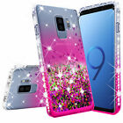 For Samsung Galaxy S9/S9 Plus Ring Stand Glitter Bling Phone Case w/Kickstand