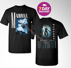 Madonna T Shirt X tour 2019 Black T Shirt Gildan 2 Side.Size S-3XL. image