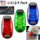 2Pcs LED Safety Light w/ Strap Clip On Strobe/Running Lights for Bike Runner Dog