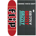 "Flip Skateboard Deck HKD 7.75"" Red/Black with GRIZZLY GRIPTAPE image"