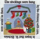 THE NIGHT BEFORE CHRISTMAS STOCKINGS EMBROIDERED QUILT BLOCK STORYBOOK #2 HP