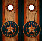 Houston Astros Cornhole Wrap MLB Decal Wood Vinyl Gameboard Skin Set YD133 on Ebay