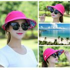 Visor Hat Golf Sun Beach Foldable Roll Up Wide Brim Cap Ladies Summer DS