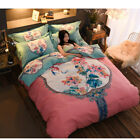 4 Pcs Double King Bed High Density Bed Sheet Set Cotton Sleeping Comfort Sheets image