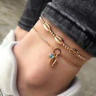 Bohemian Natural Cowrie Beads Shell Anklet Chain Foot Beach Sandal Jewelry Gift