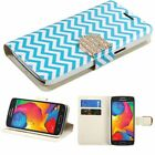 For Samsung GALAXY AVANT G386T Leather Flip Wallet Bling Glittering Case Cover