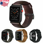 Retro Genuine Leather iWatch Band Men Casual Strap For Apple Watch Series 4 3 2  image