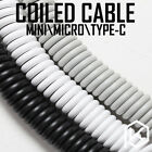 Coiled Cable Wire Mechanical Keyboard GH60 USB Cable Mini Micro Type C USB Port