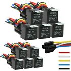 LOT 12V 30 40 Amp 5 Pin Car SPDT Automotive Relay with Wires  Harness Socket