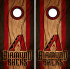 Arizona Diamondbacks Cornhole Wrap MLB Decal Wood Vinyl Gameboard Skin Set YD356 on Ebay
