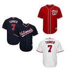 Men's Washington Nationals NO.7 Trea Turner White/Navy/Red Jersey M-3XL on Ebay