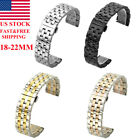 18/20/22mm Stainless Steel Watch Band Replacement Wrist Strap Bracelet Classic image