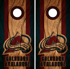 Colorado Avalanche Cornhole Wrap NHL Decal Wood Vinyl Gameboard Skin Set YD78 $59.55 USD on eBay