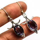 Iolite  925 Sterling Silver Overlay Earring Fashion Jewelry Sz 1.87""